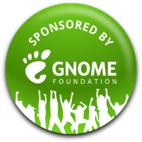 GNOME Foundation travel sponsorship badge